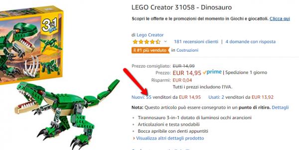 """9a20caf8558ee0 Se effettui una ricerca per """"gioco Lego"""" troverai diversi risultati,  cliccando su uno di questi potrai vedere un determinato giocattolo."""